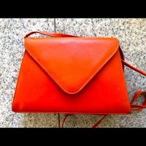 From NORDSTROM'S Orange Leather Purse